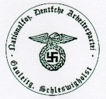 N.S.D.A.P. Nazi Party Regional Office Nazi party  rubber hand stamp.