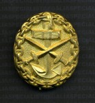 Imperial German WWI Naval  Wound Badge in Gold