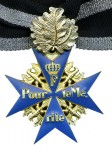 Imperial German WWI Blue Max or Pour Le Merite with Golden Oakleaves.