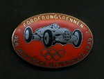 Enamel breast badge the 1935 Olympic Sponsors German motor race series. Fire and medical rescue teams issue in red.