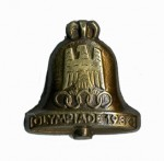 1936 Olympic Bell stick pin.