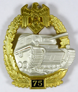 Army or Heer Panzer Tank Assault Badge for 75 Engagements.