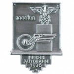 German Autobahn Construction 1000 KM commemorative stickpin.