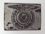 ORIGINAL QUALITY Waffen S.S. enlisted man's steel belt buckle- EXCEPTIONAL AGED FINISH.