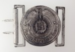 S.S. Officers belt buckle- EXCEPTIONAL AGED FINISH