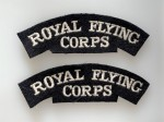 British Cloth Shoulder Titles WWI