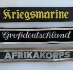 CUFF TITLES AND CAP TALLIES - Army - Luftwaffe - Navy - SS