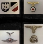 METAL CAP AND UNIFORM INSIGNIA -  Eagles - Wreaths - Skulls - PIps - Buttons