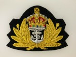Royal Navy WWII  officers wire cap badge