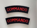 WWII 'Commando'  cloth shoulder titles. PAIR.
