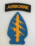 U.S. Vietnam war  Special Forces patch with Airborne tab. Colour issue