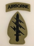U.S. Vietnam war  Special Forces patch with Airborne tab. Subdued issue