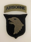 U.S. 101st Airborne Division patch tab. Subued issue