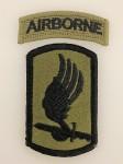 U.S. Vietnam war  173rd Airborne Brig. cloth patch w/ Airborne tab. Subd issue