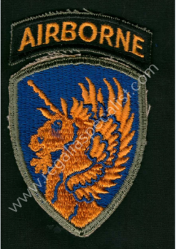 U.S. WW2 13th Airborne Division patch complete with Airborne tab