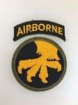 U.S. WW2 17th Airborne Division patch with Airborne tab