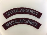 Special Air Service  shoulder titles. PAIR.