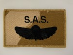 Special Air Service Paratrooper's desert camo cloth wings