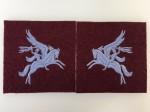 British Airborne Pegasus cloth patches. MATCHED PAIR.