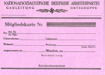 N.S.D.A.P. Nazi Party membership cards