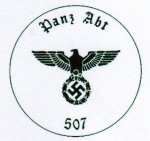 Panzer unit Number 507 military rubber hand stamp.