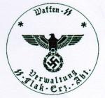 Waffen S.S. Flak unit rubber hand stamp