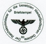 Commander of Occupied Netherlands military rubber hand stamp.