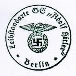 Leibstandarte S.S. Adolf Hitler. Early pattern eagle rubber hand stamp.