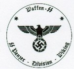 Waffen S.S. Panzer Division Wiking (Viking) military rubber hand stamp.