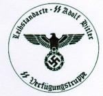 Leibstandarte S.S. Adolf Hitler. Verfugungstruppe Rubber hand stamp.