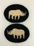 British 1st Armoured Division patches.  MATCHED PAIR