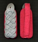 Army Panzer Officer's shoulder boards. Major to Oberst. PINK PIPED