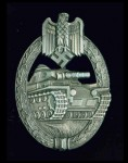 Army Panzer Assault Badge in Silver.