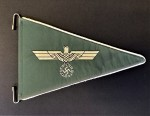 Army Officer's embroidered car pennant