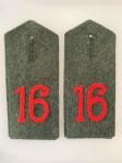 Imperial German shoulder boards of Hitler's Regiment during WWI (16th Bavarian)