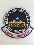 U.S. Vietnam War Dow Chemicals Better Kills through Chemistry cloth patch