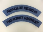 British Parachute Regiment cloth shoulder titles. WWII pattern. PAIR.