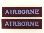 British Airborne cloth shoulder titles . PAIR.