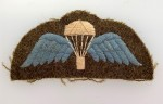 British Army Paratroopers cloth sleeve wings. WWII issue
