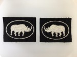 British 2nd Armoured Brigade cloth sleeve patches. MATCHED PAIR.