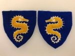 British 27th Armoured Brigade cloth sleeve patches. PAIR.