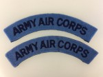 British Army Air Corps cloth shoulder titles.  PAIR.