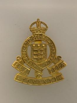 Royal Ordnance Corps metal cap or beret badge.