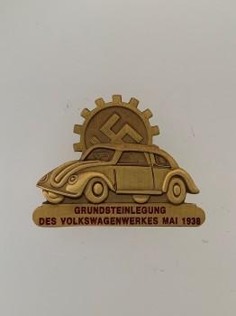 Volkswagen badge in bronze