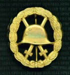 Imperial German WWI wound badge in Gold