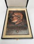 The 'Fuhrer Plaque' award in presentation case.