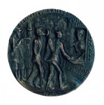 Goetz medallion commemorating the sinking of the Lusitania. ENGLISH ISSUE BRONZED
