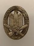 Army General Assault  badge in Silver by A.G.M.u.K. GABLONZ. ORIGINAL QUALITY.
