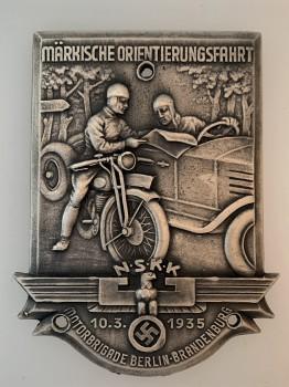 N.S.K.K.  Berlin-Brandenburg Orientierungsfahrt  Plaque