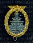 Kriegsmarine Fleet badge miniature